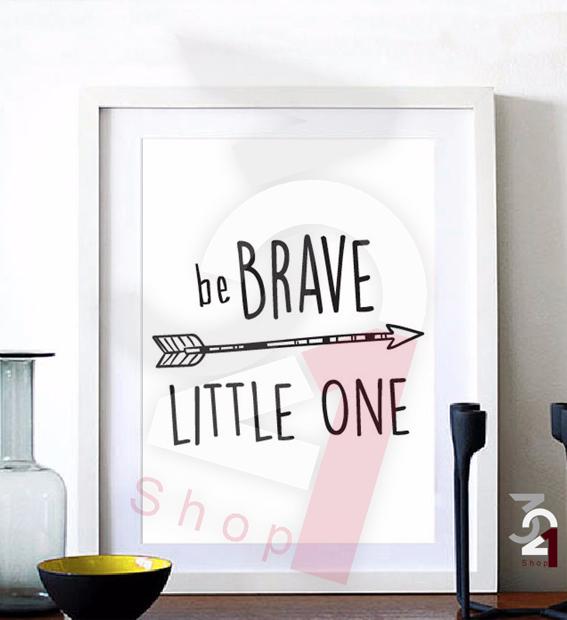 تایپوگرافی be brave